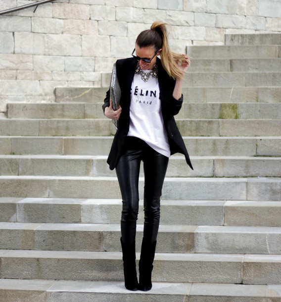 rebel attitude blogger jacket pants shoes bag