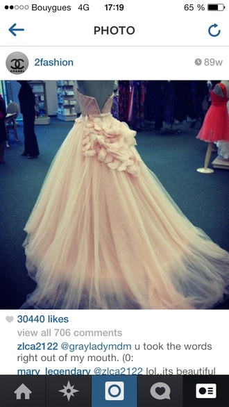 dress prom dress long prom dress quinceanera dress peach dress petals floral