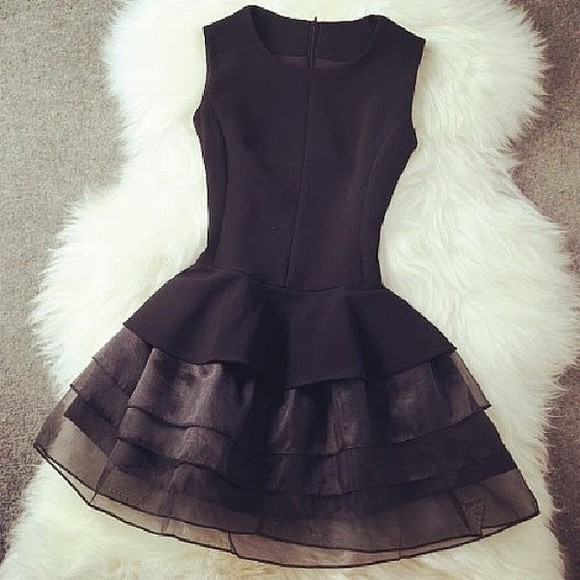 dress tutu little black dress black short black dress