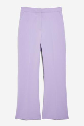 cropped lilac pants