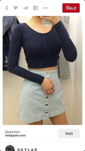 skirt denim skirt high waisted skirt outfit american apparel soft grunge pale