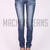 Medium Wash Distressed Skinny Jeans – Betsy Boo's Boutique