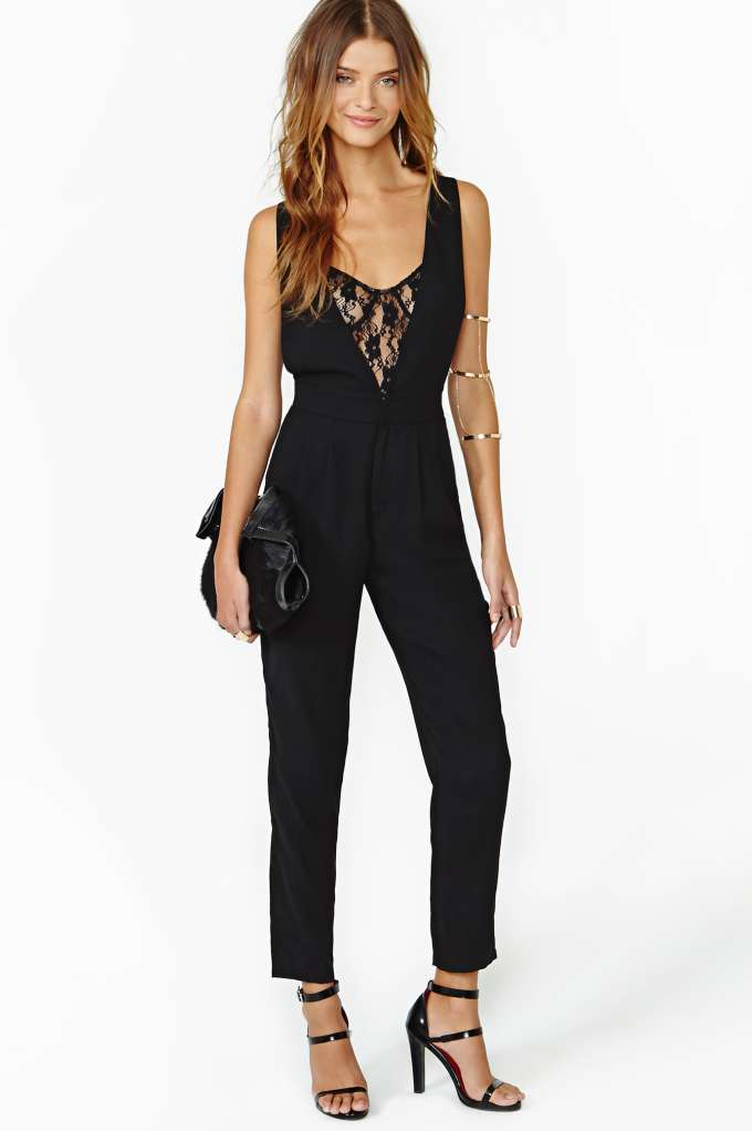 In Too Deep Jumpsuit  in  at Nasty Gal
