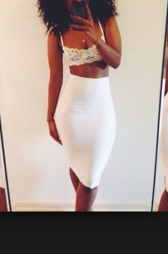 white skirt highwaisted bodycon highwaisted skirt spandex white bodycon skirt white midi skirt cotton long skirt