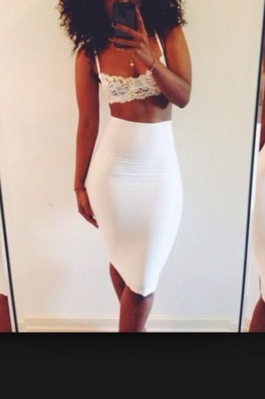 white skirt highwaisted bodycon high waisted skirt spandex white bodycon skirt white midi skirt cotton long skirt