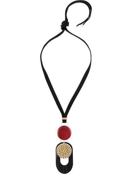 MARNI metal women statement necklace black jewels