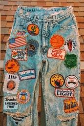jeans,patch,mom jeans,boyfriend jeans,90s style,grunge
