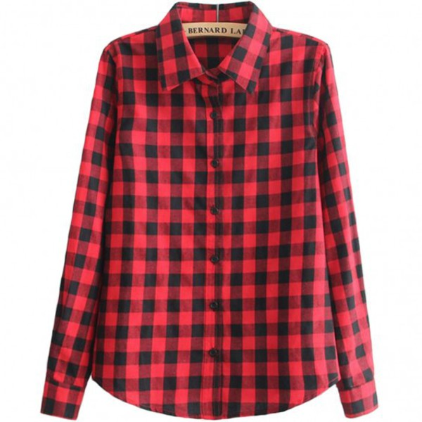 blouse plaid black and red red black check flannel shirt summer boogzel
