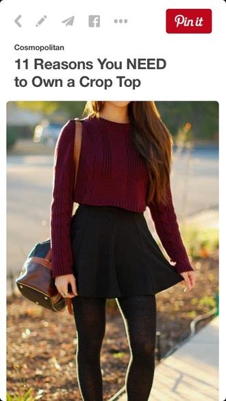 sweater burgendy winter sweater fall sweater