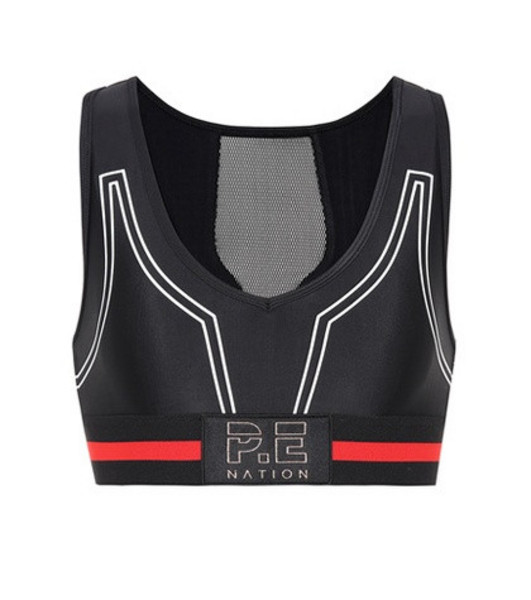 P.E Nation Huddle sports bra in black