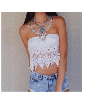 top white crop tops crochet crop top lace lace top casual white top lace crop top crop tops jewels denim