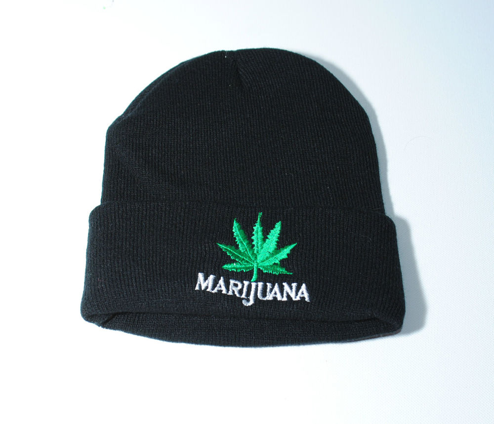 Punk Rock Stretch Rasta Marijuana Hemp Weed Leaf pom-pom Baggy Beanie Winter Hat | eBay