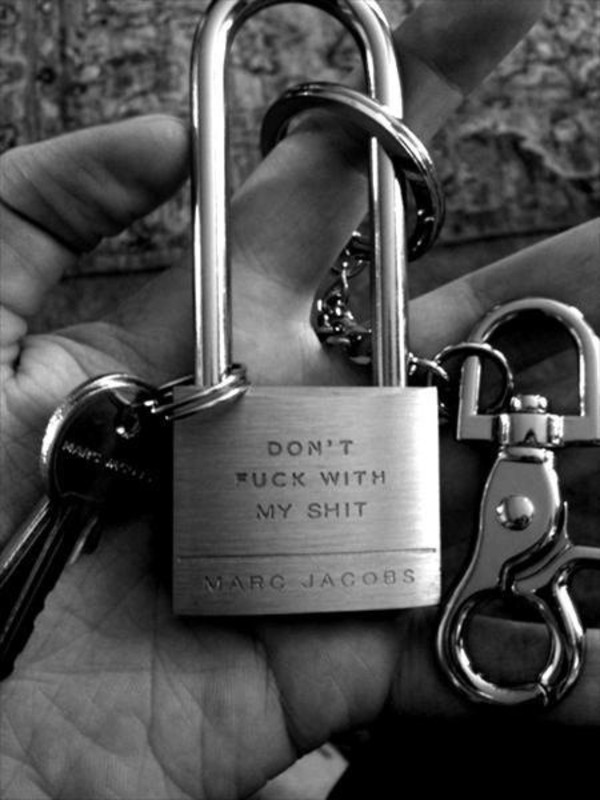 padlock keychain marc by marc jacobs