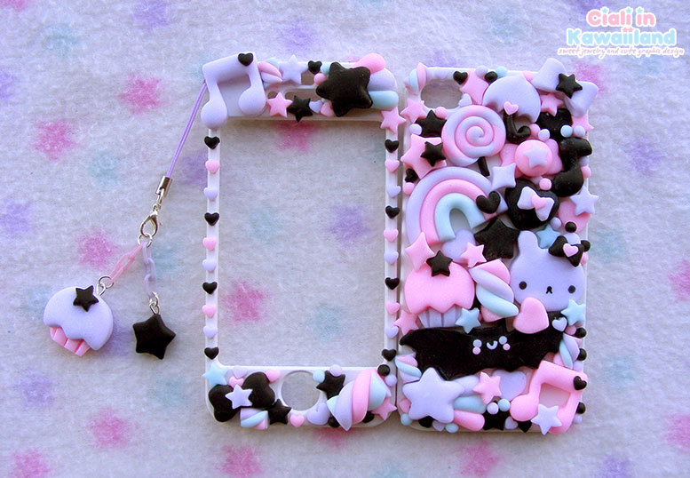 Pastel goth kawaii iphone 4/4s/5 and galaxy s2 s3 s4 s5 front back case cover
