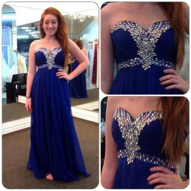 prom dress crystal evening dresses 2014  prom gowns