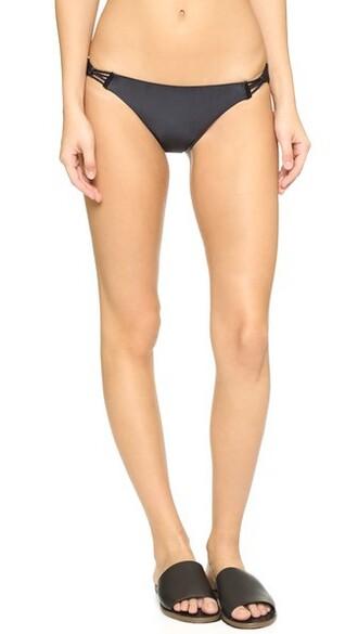 bikini braided black swimwear