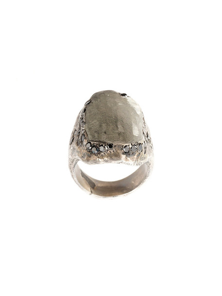 Tobias Wistisen women ring silver black grey jewels