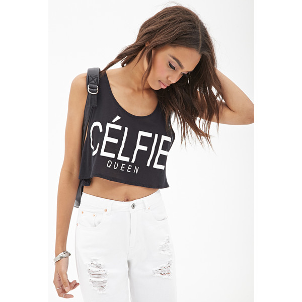FOREVER 21 Célfie Queen Crop Top