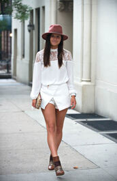 to be bright,blogger,blouse,skirt,shoes,hat,bag,jewels