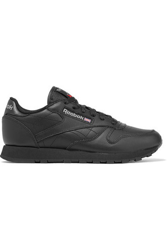 classic sneakers leather black shoes