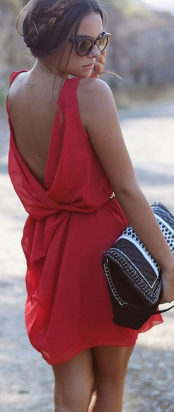 backless backless dress red dress