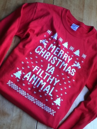 sweater white winter sweater christmas red cute sweaters