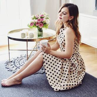 dress french girl midi dress a line dress polka dots sleeveless sleeveless dress
