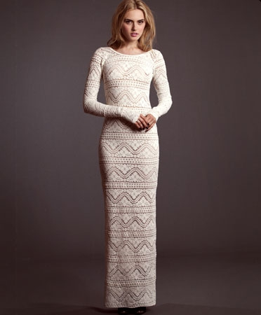 With Hearts In My Eyes Ivory Crochet Rose Dress