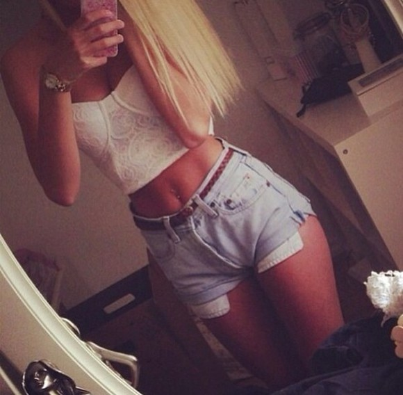 tank top shorts white shirt