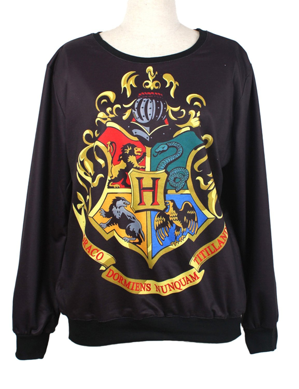 Pink queen fashion harry potter hogwarts crest pullover sweater sweatshirt at amazon women's clothing store: