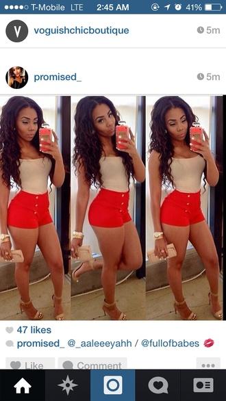 shorts red dress cute sumner summer shorts summer outfits