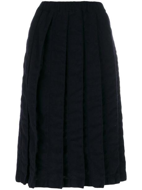 Comme des Garçons Comme des Garçons skirt pleated skirt pleated women blue wool