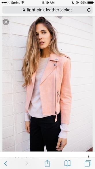 jacket pink soft