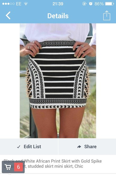 skirt black and white stripes striped skirt