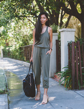 honey and silk,jumpsuit,bag,shoes