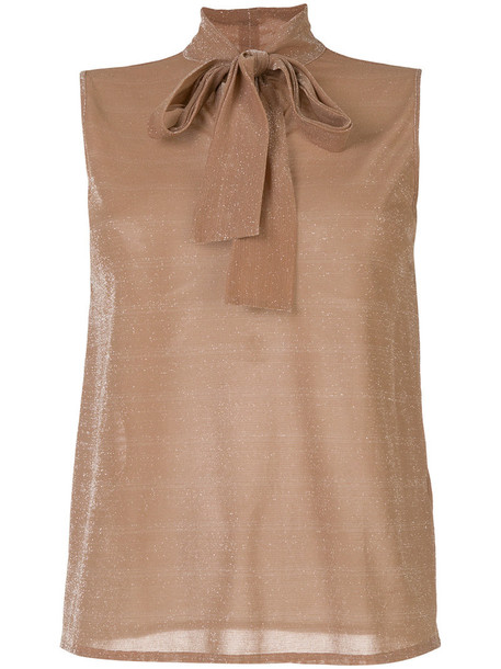 Roberto Collina blouse bow women nude top