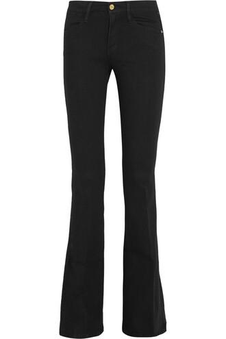 jeans flare high black