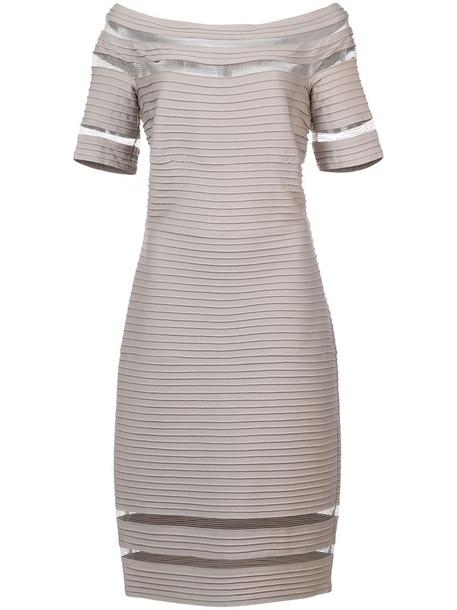 Tadashi Shoji dress women spandex grey