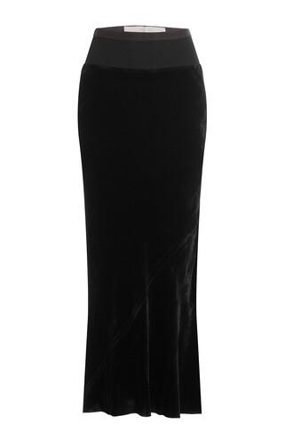 skirt maxi skirt maxi silk velvet black