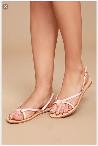 shoes lulus thong sandals nude pink cute sandals flat sandals strappy sandals blush sandal cute sandal cute pink sandal thong sandal cute thong sandal