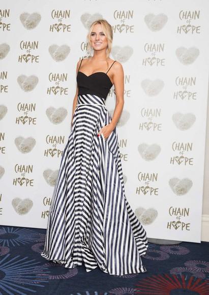 stripes top skirt maxi skirt kimberley garner gown