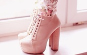 shoes,boots,high heels,pink,pink shoes,cute high heels,nude high heels,pink high heels,girly,pretty,classy,jeffrey campbell lita,high heel,any color,platform lace up boots,pastel pink,heels,perfect,pink heels