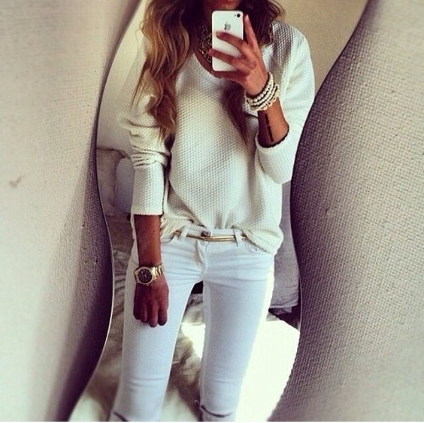 MOTO White Rip Leigh Jeans - New In This Week - New In - Topshop