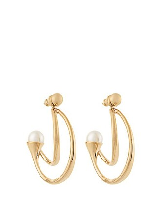 earrings gold jewels