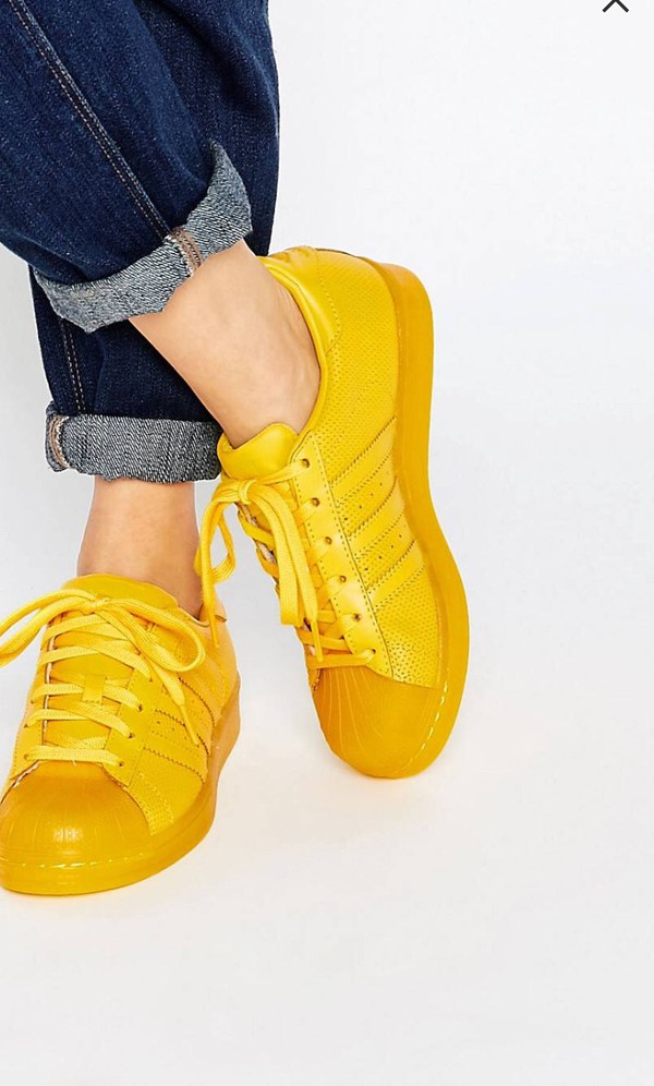 official photos ea8f7 2f396 shoes yellow adidas shoes yellow sneakers adidas superstars low top sneakers .