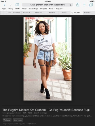 shorts kat graham short edgey edgy jeans edgy leather style suspenders shorts with suspenders suspender shorts nastygal fashion