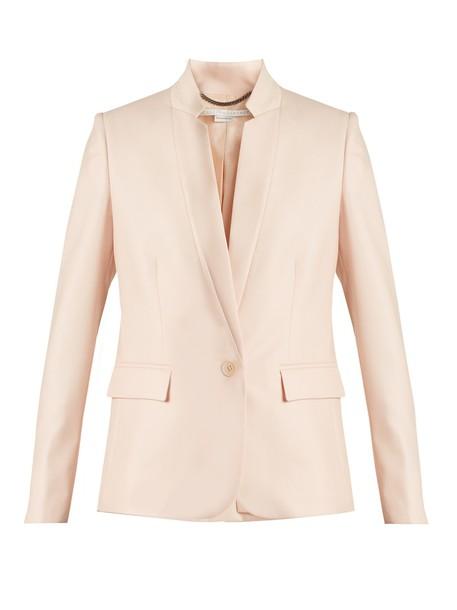 jacket wool jacket fleur wool light pink light pink