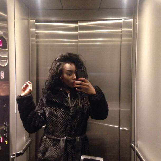 coat black fur