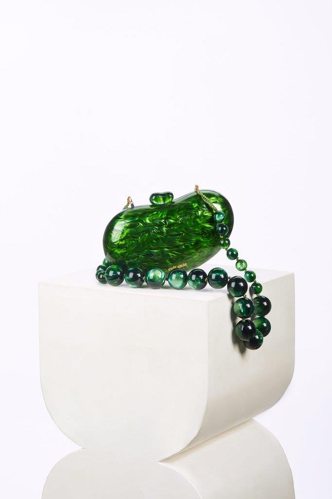 Tallulah Bean Shoulder Bag - Malachite