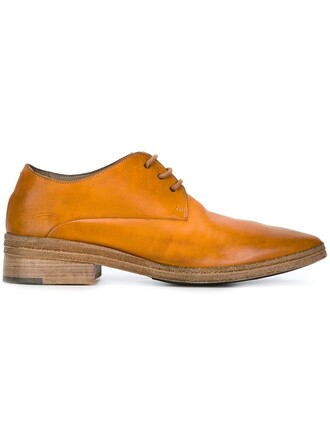 shoes lace-up shoes lace yellow orange